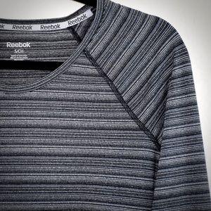 Reebok Womens Striped Tagless Top S Long Sleeve